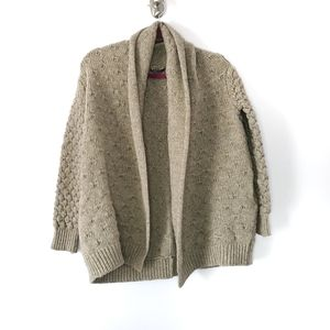 Vince Cardigan Medium Oatmeal Yak Wool Pockets